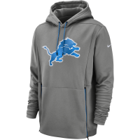 Nike Detroit Lions Dark Steel Gray Pullover Thermal Fleece Hoodie
